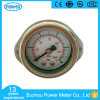 1.5inch Half Stainless Steel Back Thread Type Liquid Filled Pressure Gauge with Butterfly Clamp