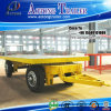 Draw Bar 20ft Container Flatbed Skeleton Trailer for Ghana