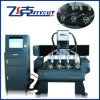 Rotary CNC Router Machine for Column Wood Engraving and Carving
