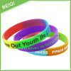 Customized Rainbow Segement Rubber Bracelet Band