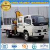 Crew Cab 3 Tons Crane Truck Foldable Arm Truck Mounted with Crane