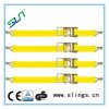 Yellow Ratchet Tie Down Straps with Aluminium Handle