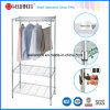 Modern Design Chrome Metal Wardrobe Closet with K/D Packing