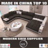 Extended Sectional Leather Modern Sofa Black Lz219