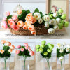 Camellia Bud Artificial Flower Bouquet with 5 Branch&10heads