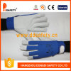 Ddsafety 2017 Pig Grain Leather Blue Elastic Cotton Back Wrist with Velcro Fastener
