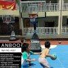 Custom Portable Basketball Goal with Movable HDPE Base Adjustable Backboard Spring Rim for Junior