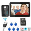 9 Inch Hands Free 4 Wires Color Video Door Phone