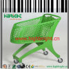 Supermarket Colorful Custom Made All Plastic Shopping Trolley