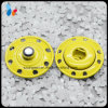 Painted Yellow Color Eight Holes Metal Stud Snap Sewing Button