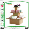 Square 3-Tier Island Retail Display Stand Case