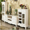 Luxury Home Furniture Fashionable Best Seller Antique White Wood TV Stand