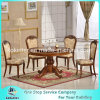 Europe Type Dining Table Solid Wood Classic Style Table and Chairs Set