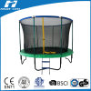 Trampoline with Fiberglass Poles on The Top of Safety Net