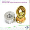 Carbon Steel Yellow Zinc Plated Hex Flange Nut DIN6923