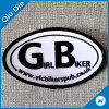 Custom Embroidered Fabric Biker Patches