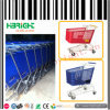 Plastic Shopping Trolley Cart for Supermarket Mall