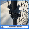 Black and Galvanized Chain Link Dog Kennel Gates Latch