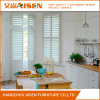 Clear View Tilt Rod White Basswood Plantation Shutters