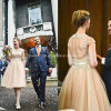 Knee-Length V-Neck Backless A-Line Bridal Gowns Wedding Dresses Z9004