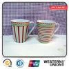 Porcelain Mug of Stripe Decal in V-Shape