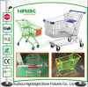Asian Type Supermarket Shopping Trolley with Swivel Wheels