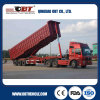 3 Axles Flat Bed Tipper Semi Trailer