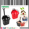 Telescope Plastic Supermaket Rolling Shopping Basket