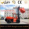 All Terrain Forklift 3.5 Tons Diesel Forklift with Ce
