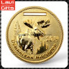 Hot Sell Custom Reindeer Logo Metal Gold Medal