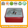Square Gift Tin Container for Promotion, Metal Tin Box