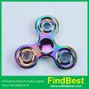 Fs007 Hottest Big Three Round Zinc Alloy Tri-Bar Fidget Spinner for Wholesale Gift