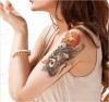 Large Dragon Flower Temporary Tattoo Sticker Art Tattoo Sticker