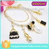 Fashion Women Custom Infinity Shamballa Metal Gold Bead Charm Bracelet