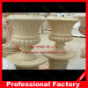 Stone Carving Marble Flowerpot for Garden Decoration