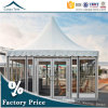 Semi-Permanent New Birthday Gathering 6m*6m Glass Wall Pagoda Marquee Tent Wholesale