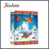 Glossy Laminated Ivory Paper Cartoon Christmas Packing Gift Paper Bag