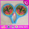 2015 Nice Design Wood Beach Tennis Racket, Professional Beach Tennis Racket, Beach Paddle Rackets (2PCS Paddle + 1PC Ball) W01A115