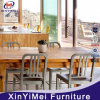 Silver Indoor Cafe Metal Chairs for Dining with Heavy Duty