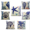 Fashion Decorative Digital Sea Creature Printed Cushion Coastals Pillow (LCL04-510)