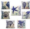 Fashion Decorative Digital Sea Creature Printed Cushion Coastals Pillow (LCL04-510)
