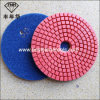 Wd-2 Wet Polishing Pads Standard Bright Red Diamond Flexible Polishing Pad