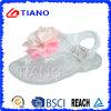 New Design Jelly Girl′s Sandal with Flower (TNK50025-1)
