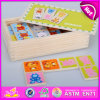 2015 Newest Wooden Domino Set in Wooden Box, Children Wooden Domino Set Wholesale, Top Grade Customized Wooden Domino Set W15A017