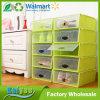 Wholesale Dustproof Multicolor PP Shoe Box Storage with Clear Lid