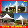 White High Peak Pagoda Marquee Tent with Floor