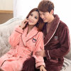 Coral Velvet Long Thickened Large Men's Flannel Bathrobe