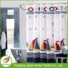 Waterproof Boat Print Nautical Navy Blue Shower Curtain