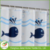 Custom Waterproof Bathroom Curtain Dolphin Printed Shower Curtain