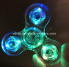 Transparent Plastic LED Noctilucous Spinner with Three-Way Switch